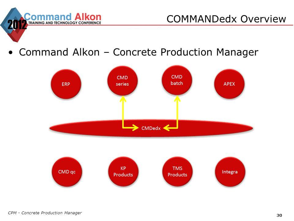 Command Alkon – Concrete Production Manager