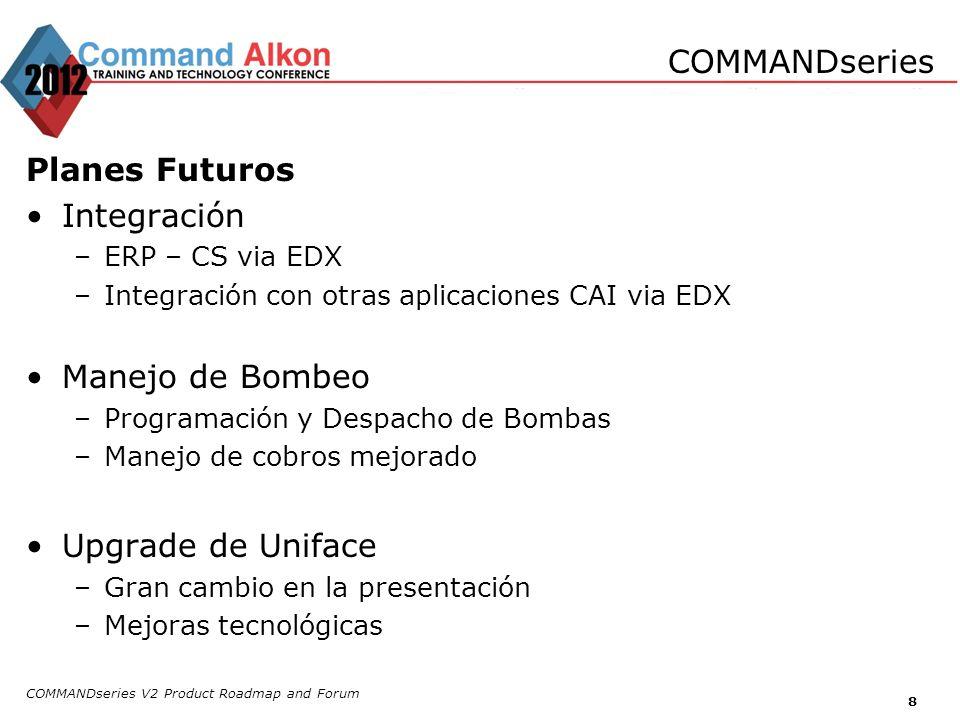 COMMANDseries Planes Futuros Integración Manejo de Bombeo