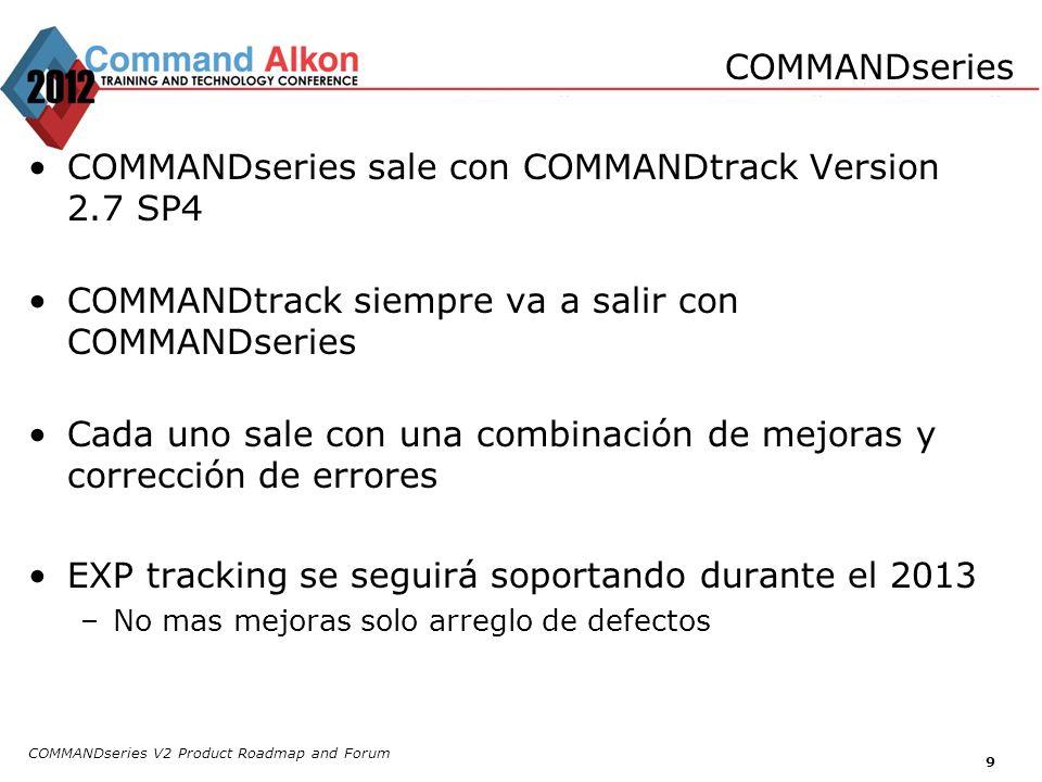 COMMANDseries sale con COMMANDtrack Version 2.7 SP4