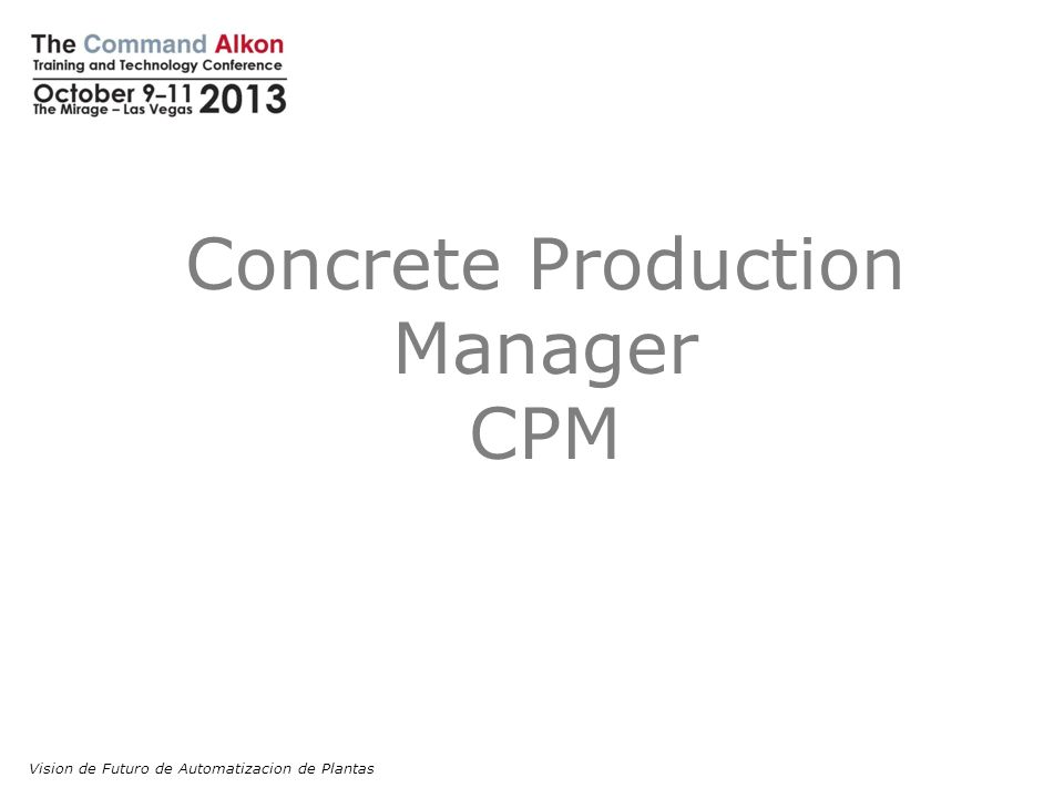 Concrete Production Manager CPM