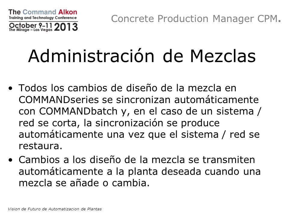 Concrete Production Manager CPM.