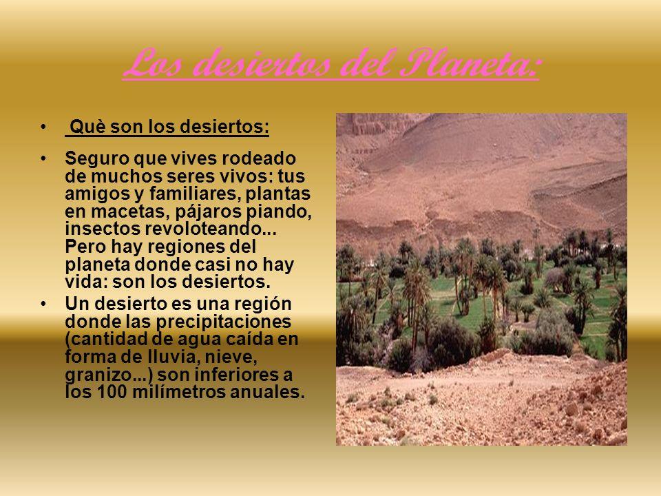 Los desiertos del Planeta:
