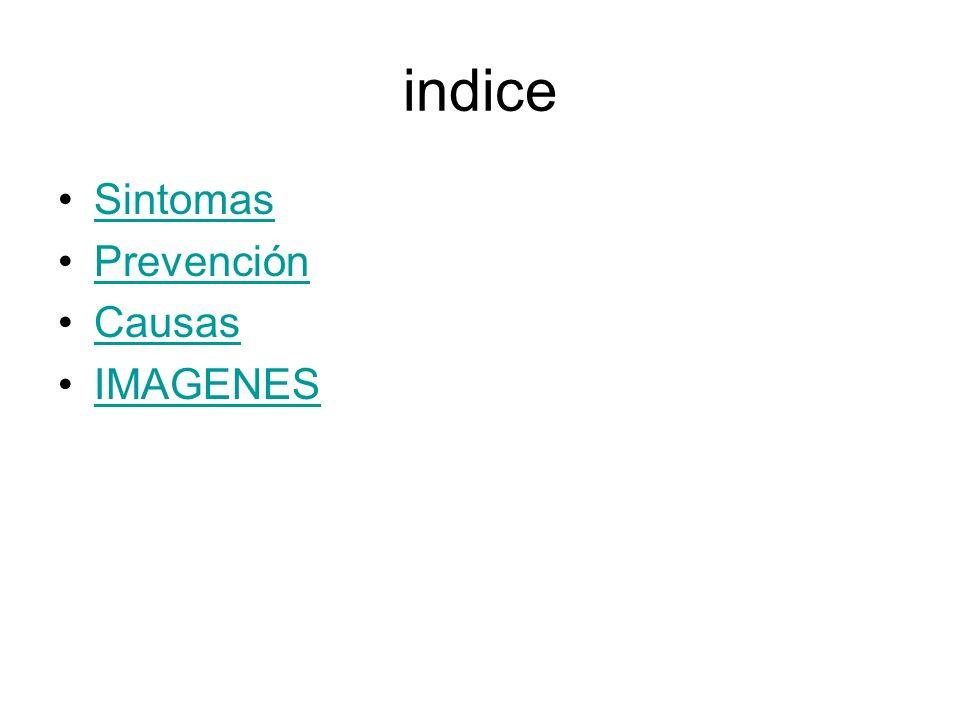 indice Sintomas Prevención Causas IMAGENES