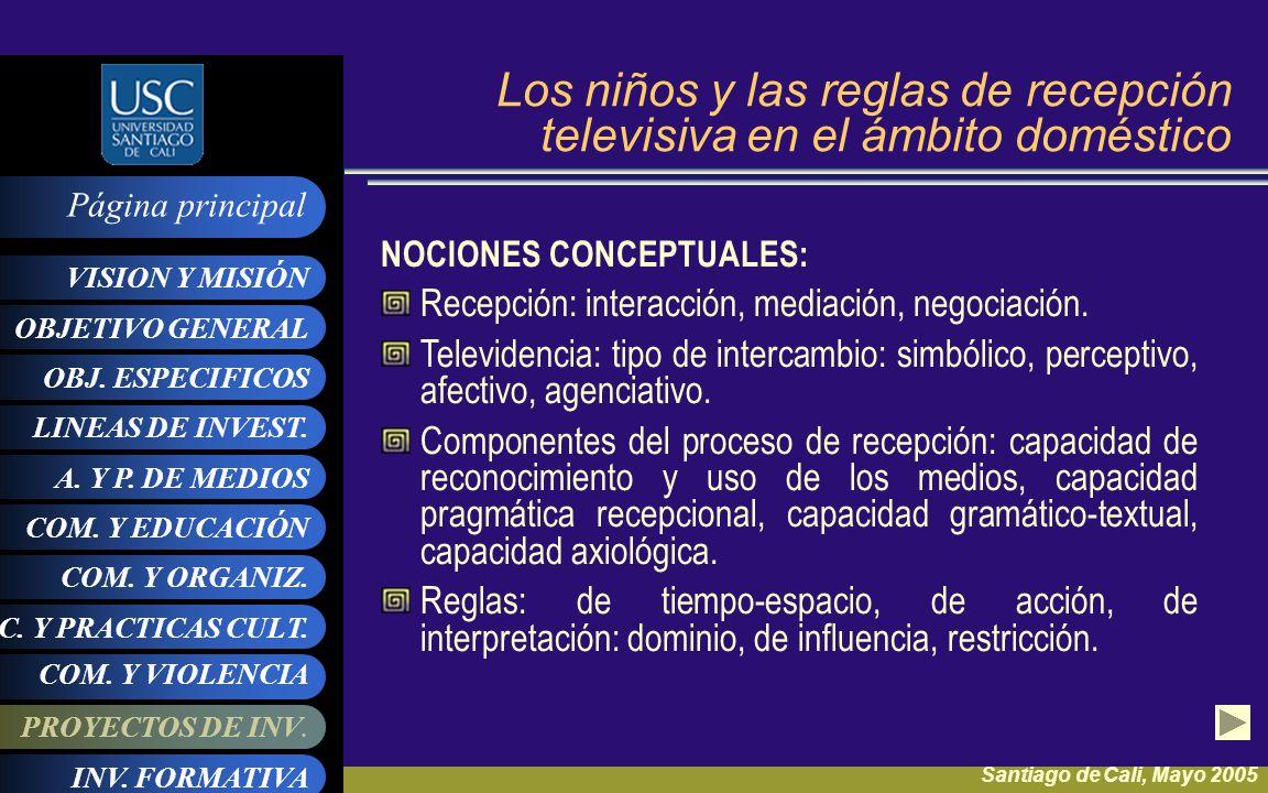 Los niños y las reglas de recepción televisiva en el ámbito doméstico