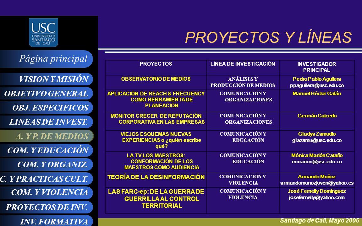 PROYECTOS Y LÍNEAS TEORÍA DE LA DESINFORMACIÓN