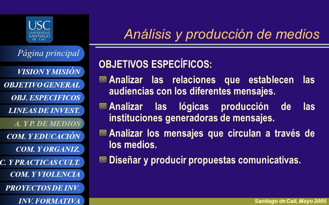 Análisis y producción de medios