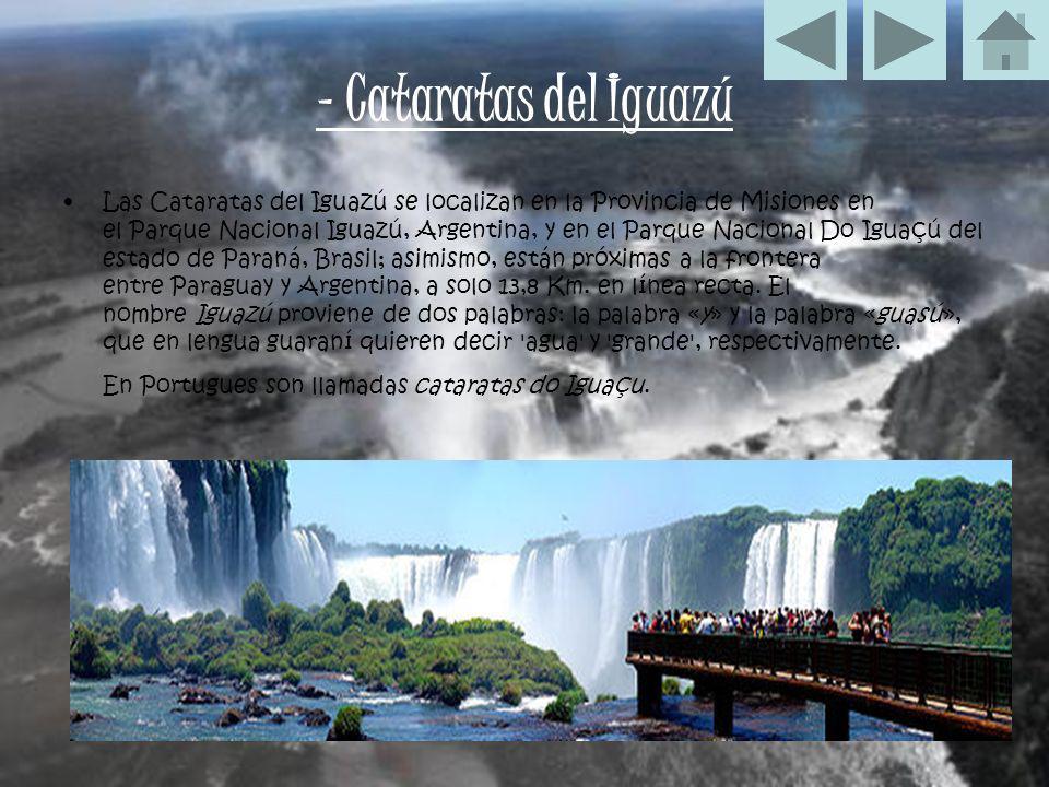 - Cataratas del Iguazú