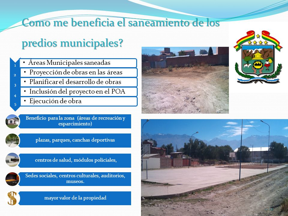 Como me beneficia el saneamiento de los predios municipales