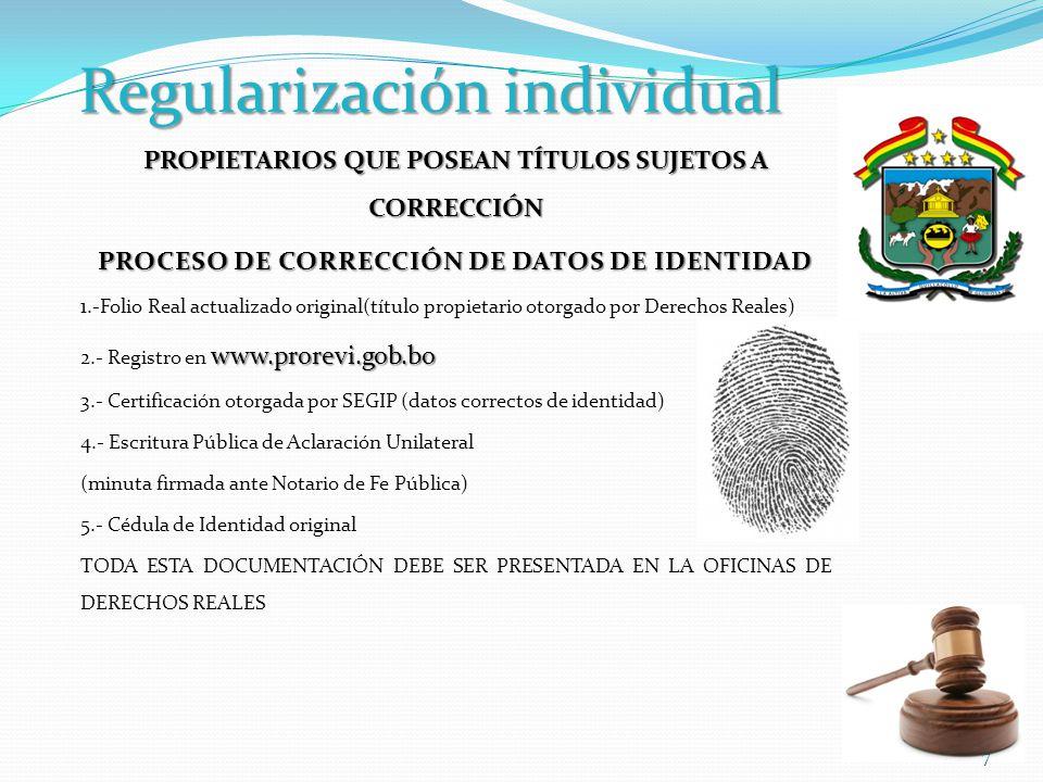 Regularización individual