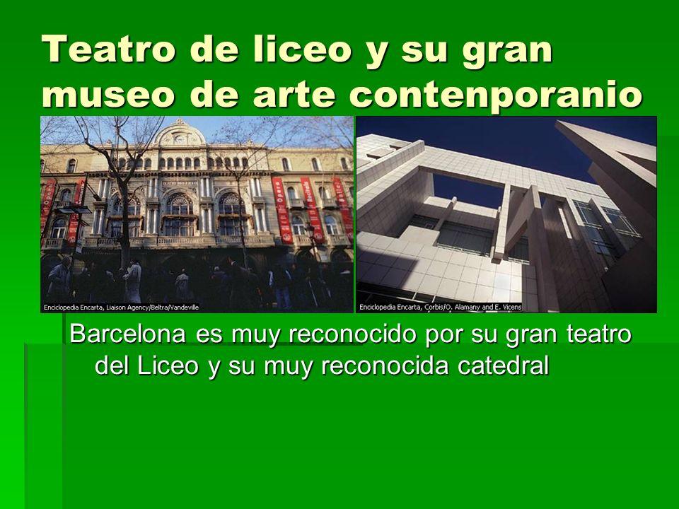 Teatro de liceo y su gran museo de arte contenporanio