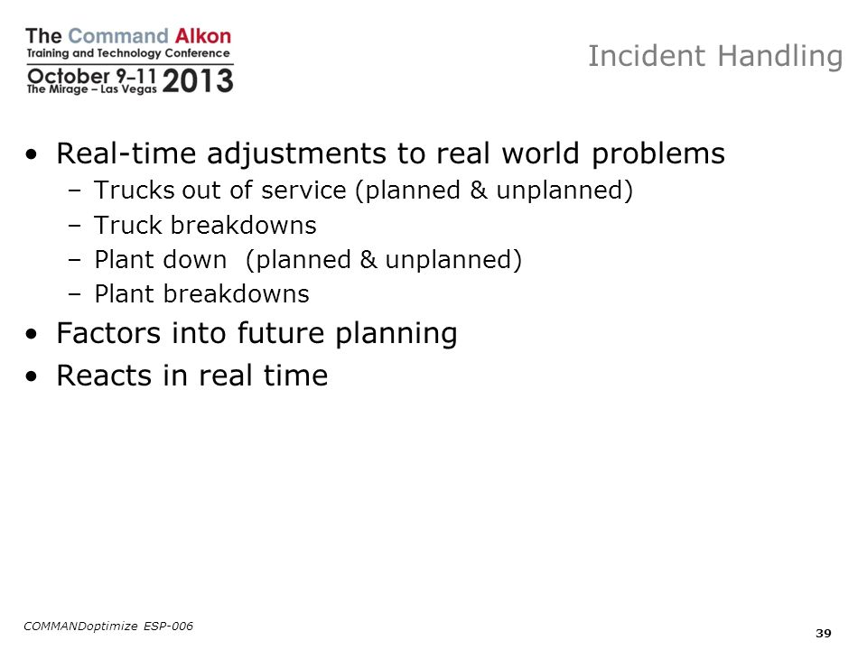 Real-time adjustments to real world problems