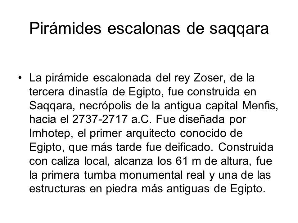 Pirámides escalonas de saqqara