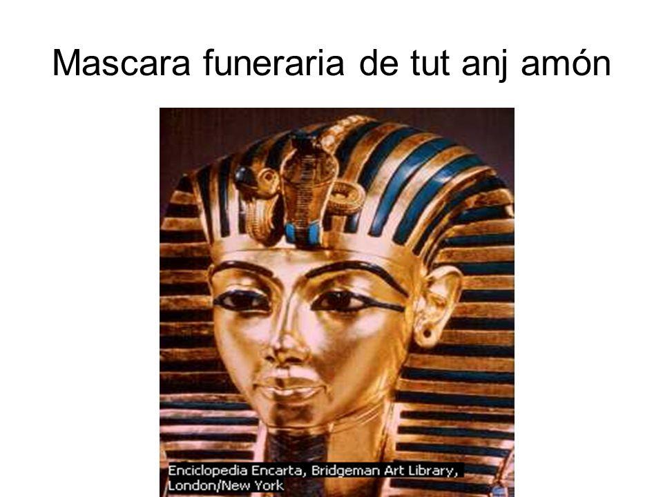 Mascara funeraria de tut anj amón