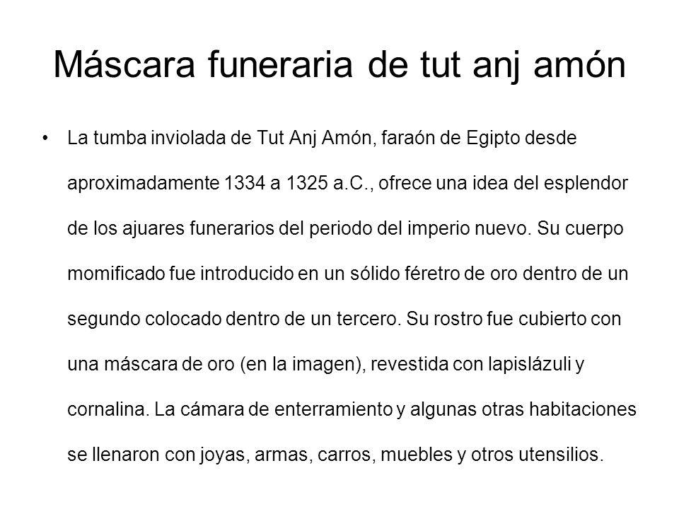 Máscara funeraria de tut anj amón