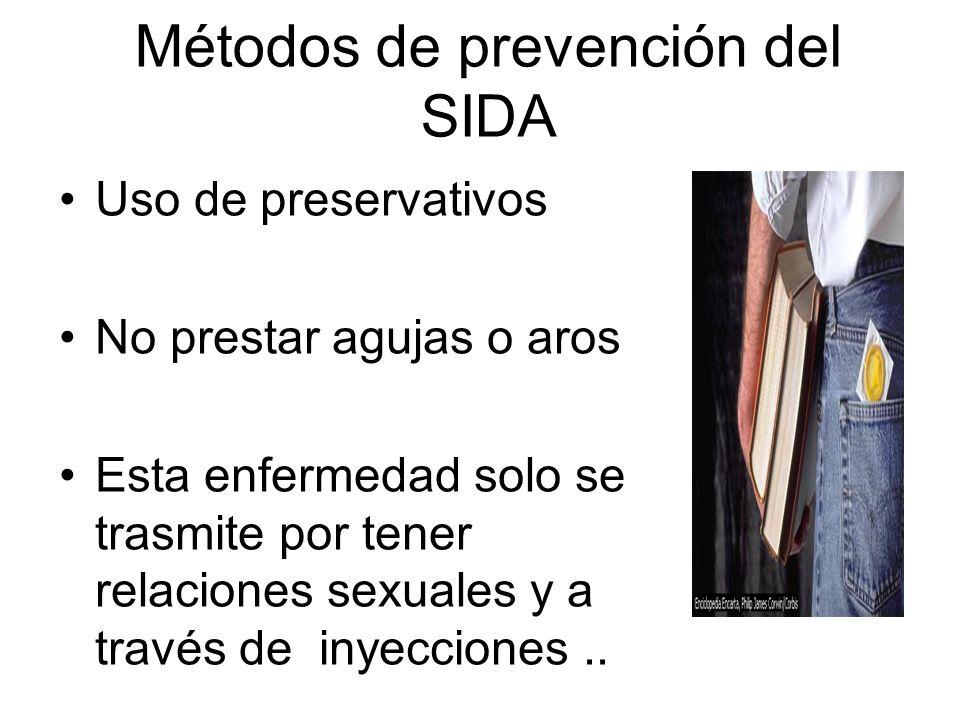 Métodos de prevención del SIDA