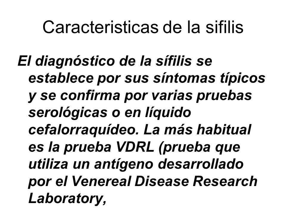 Caracteristicas de la sifilis