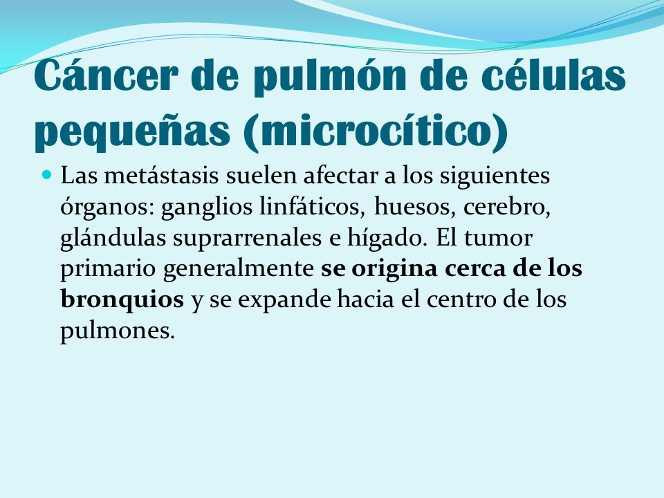 Cáncer de pulmón de células pequeñas (microcítico)