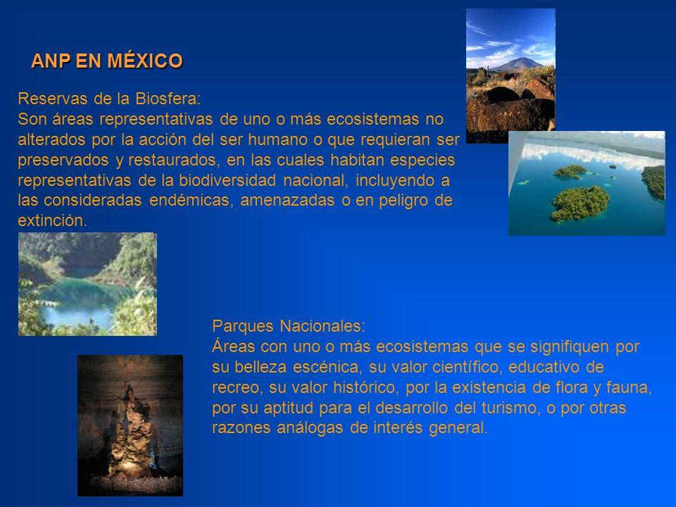 ANP EN MÉXICO Reservas de la Biosfera: