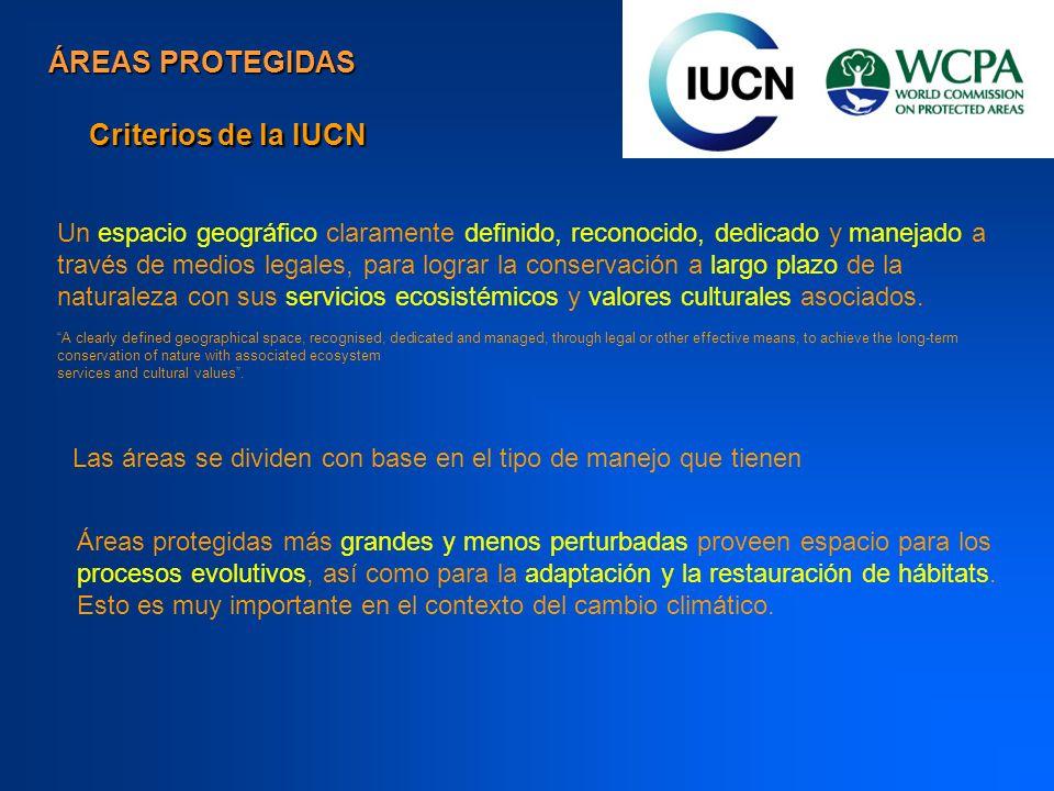 ÁREAS PROTEGIDAS Criterios de la IUCN
