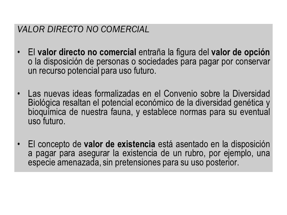 VALOR DIRECTO NO COMERCIAL