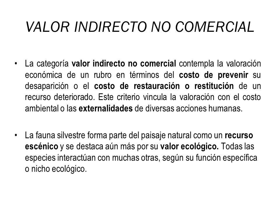 VALOR INDIRECTO NO COMERCIAL