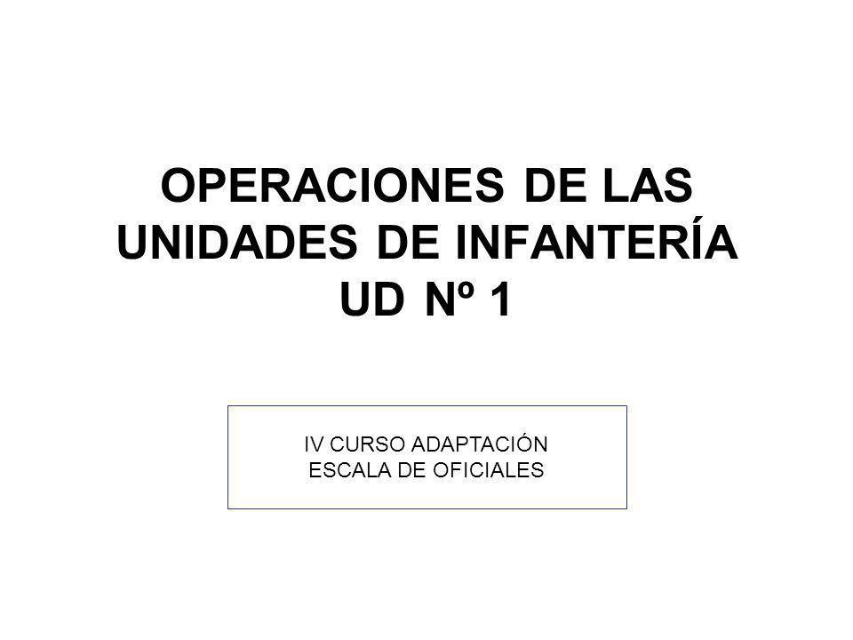 OPERACIONES DE LAS UNIDADES DE INFANTERÍA UD Nº 1