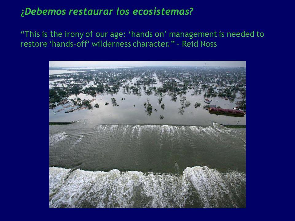 ¿Debemos restaurar los ecosistemas