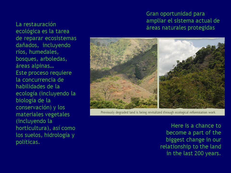 Gran oportunidad para ampliar el sistema actual de áreas naturales protegidas