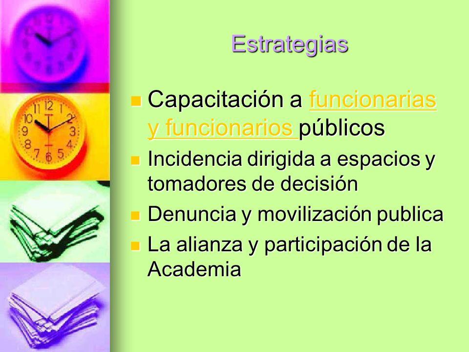 Capacitación a funcionarias y funcionarios públicos