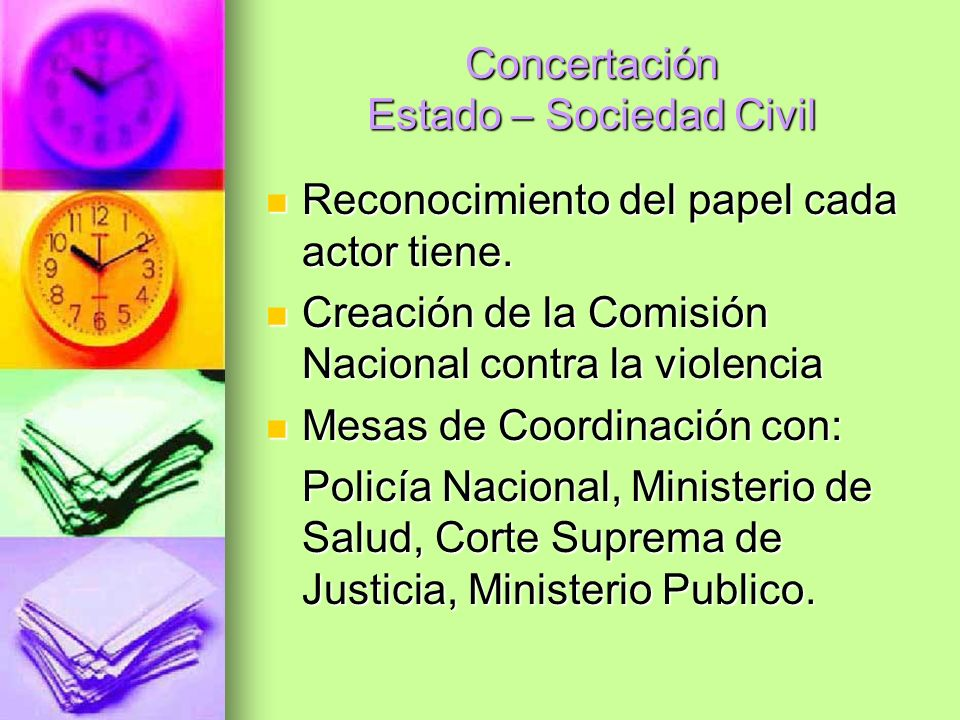 Concertación Estado – Sociedad Civil