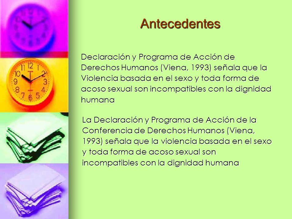 Antecedentes Declaración y Programa de Acción de