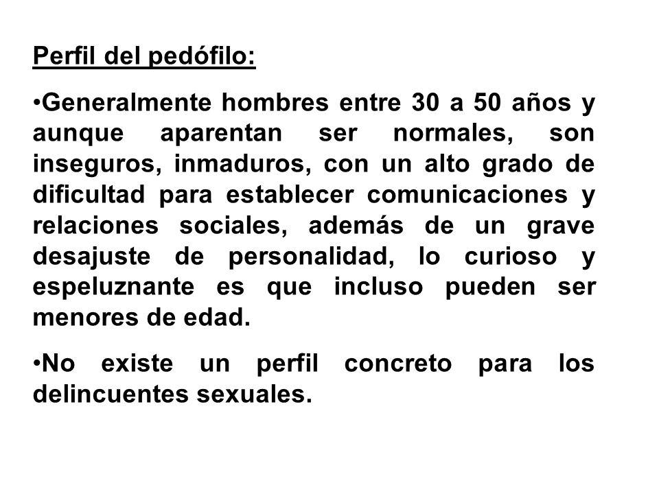 Perfil del pedófilo: