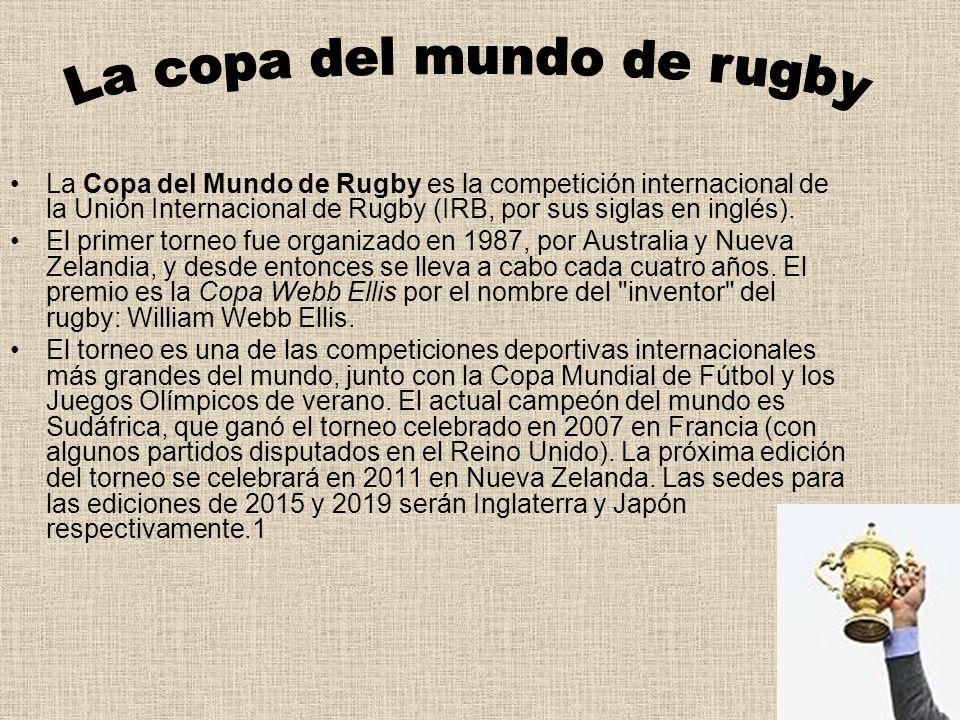 La copa del mundo de rugby