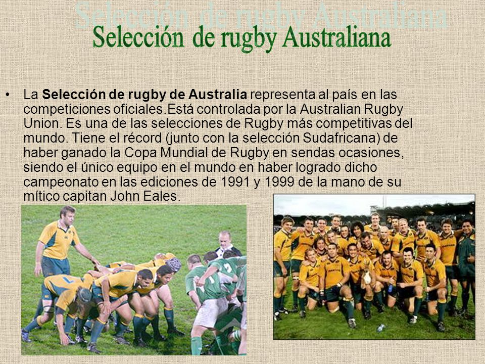 Selección de rugby Australiana
