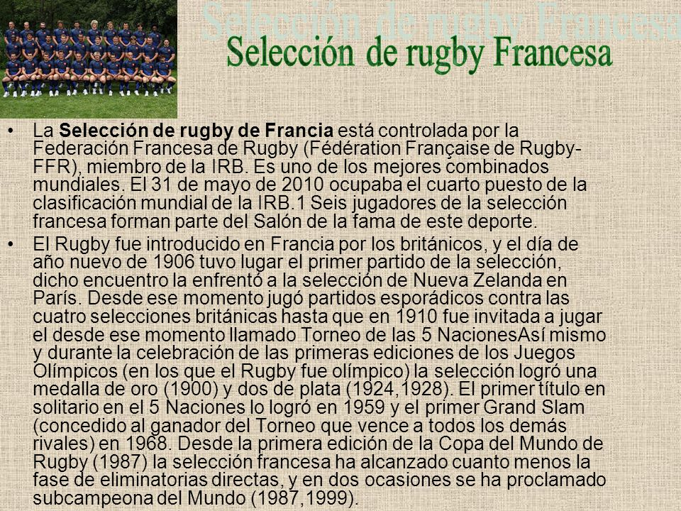 Selección de rugby Francesa