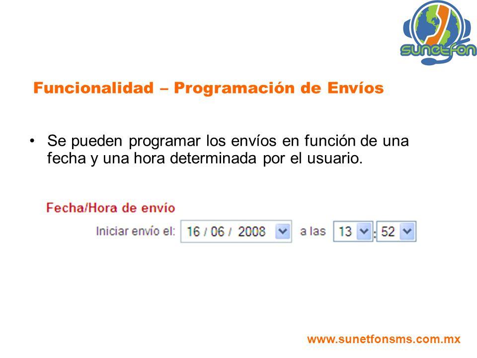 Funcionalidad – Programación de Envíos