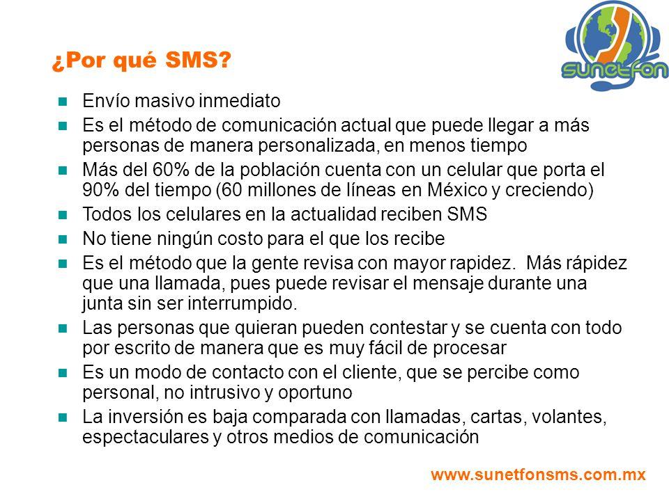 ¿Por qué SMS Envío masivo inmediato