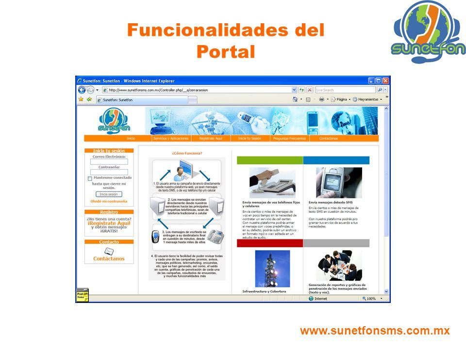 Funcionalidades del Portal
