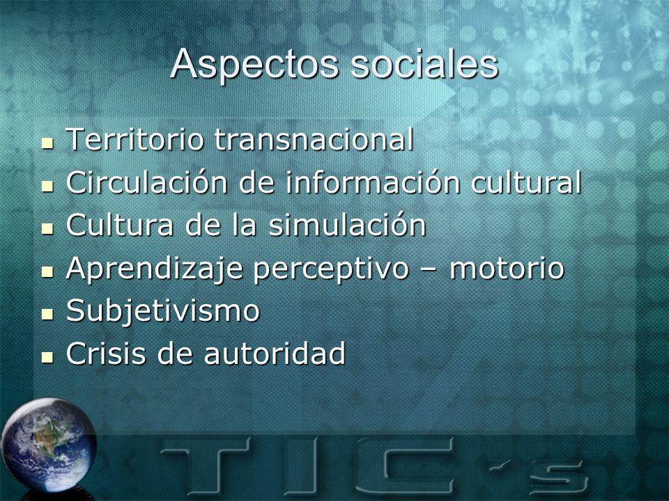 Aspectos sociales Territorio transnacional