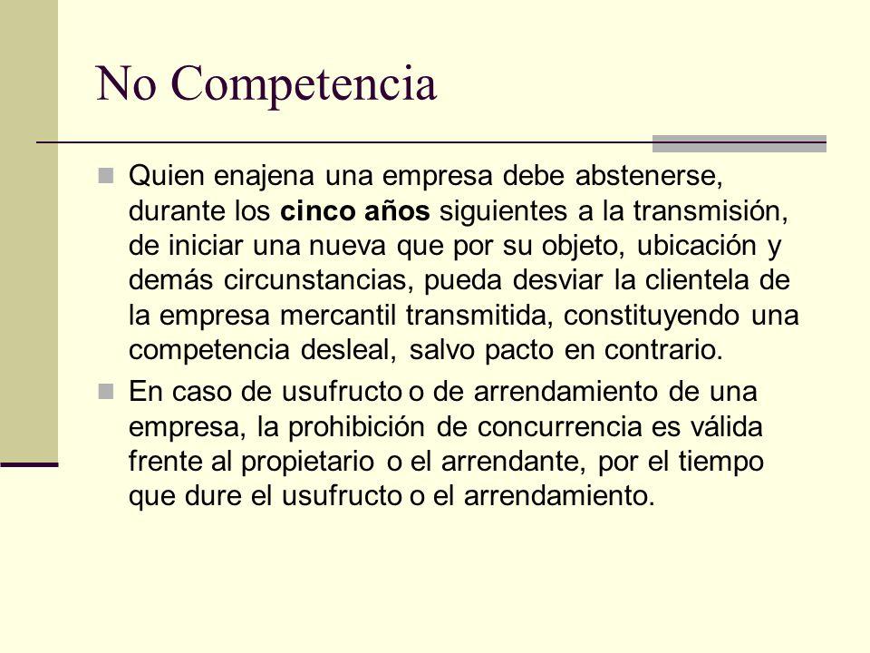 No Competencia
