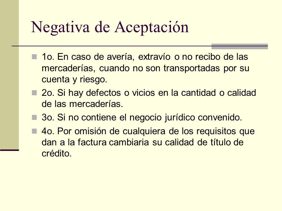 Negativa de Aceptación