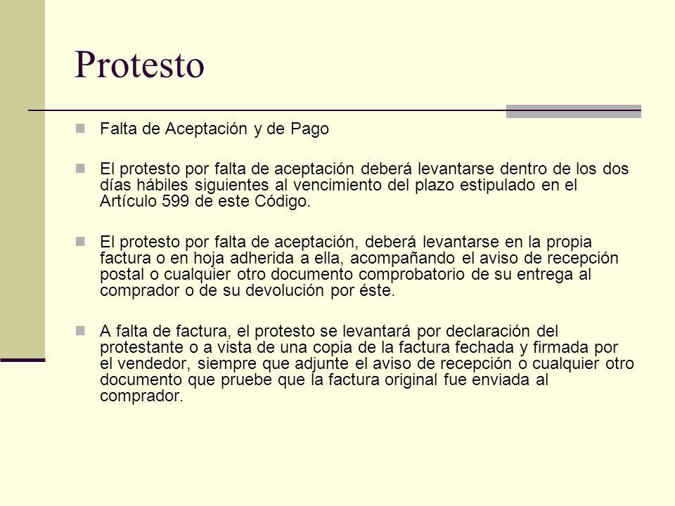 Protesto Falta de Aceptación y de Pago