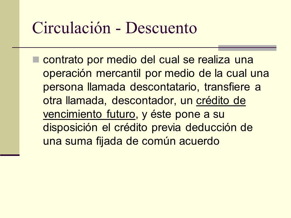 Circulación - Descuento