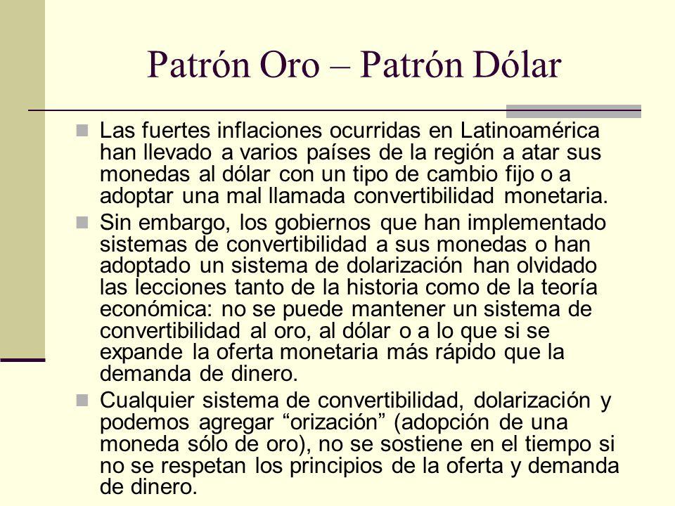 Patrón Oro – Patrón Dólar