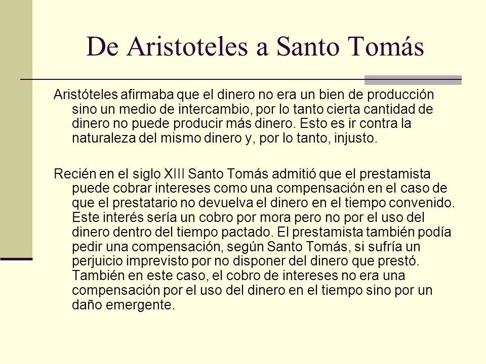 De Aristoteles a Santo Tomás