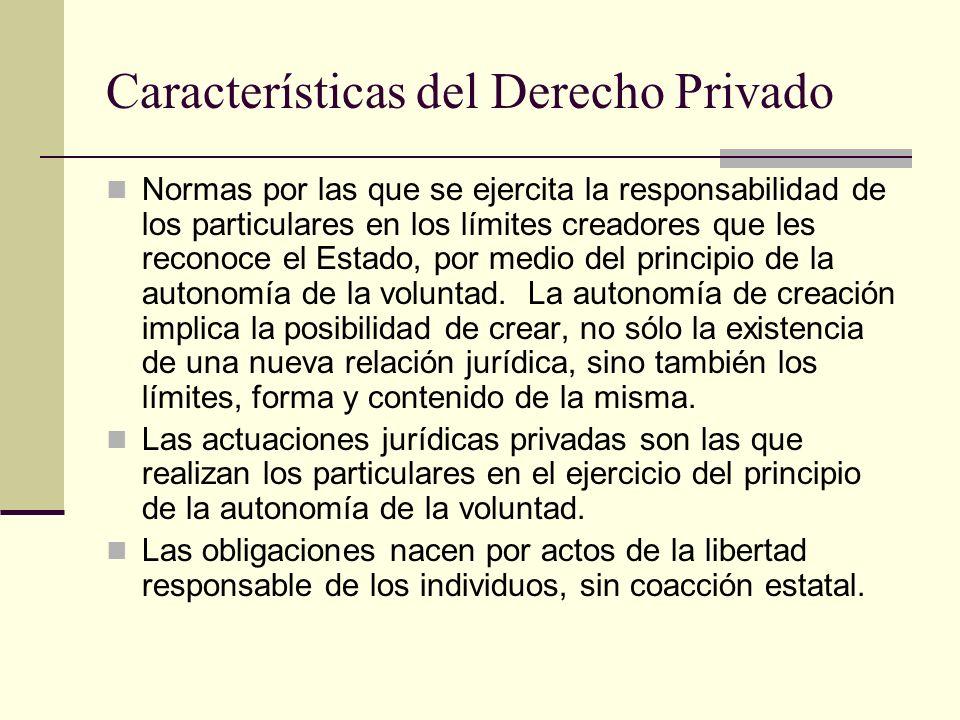 Características del Derecho Privado