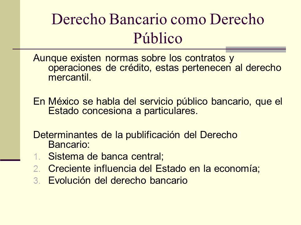 Derecho Bancario como Derecho Público