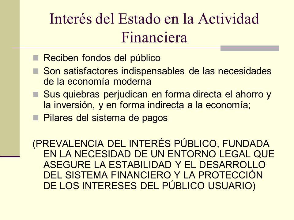 Interés del Estado en la Actividad Financiera