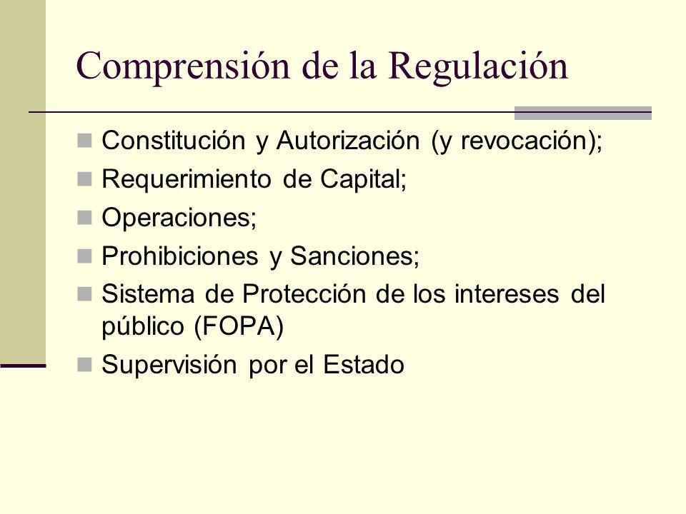 Comprensión de la Regulación