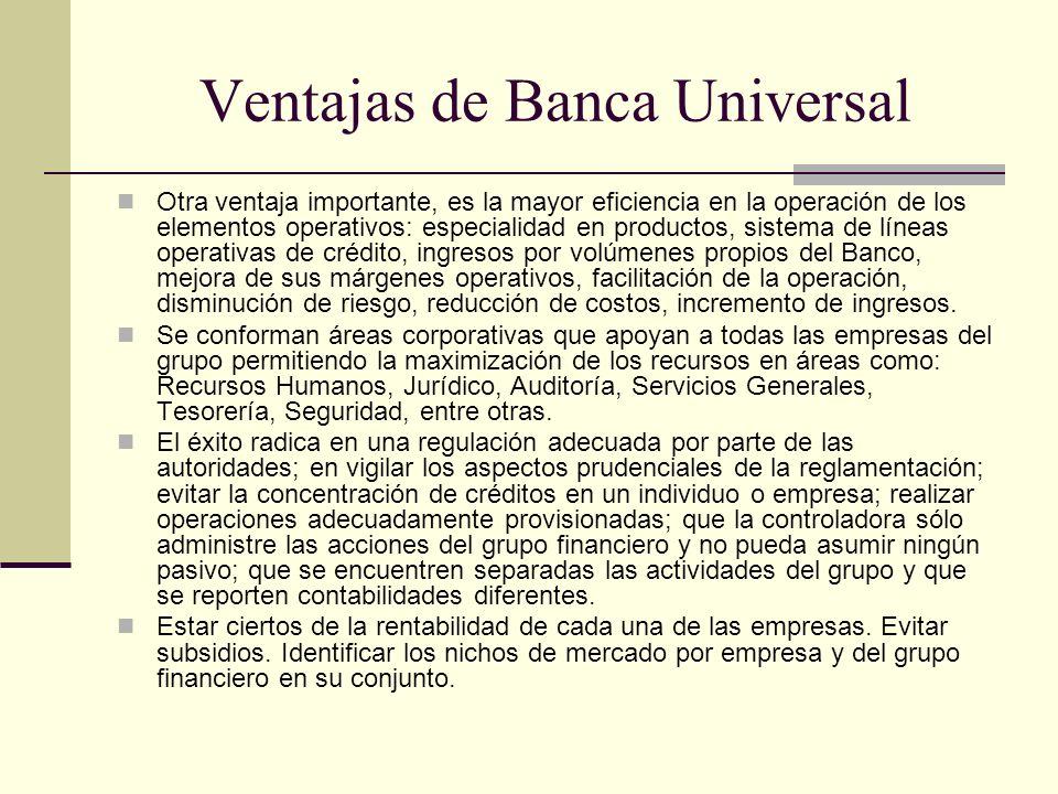 Ventajas de Banca Universal